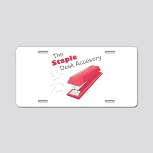 Desk Accesory Aluminum License Plate
