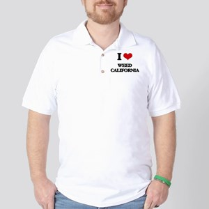 I love Weed California Golf Shirt