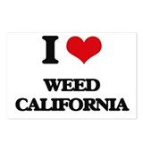 I heart weed Postcards