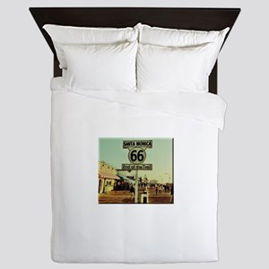 Route 66 End of Trail Queen Duvet