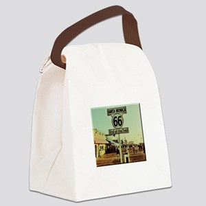 Route 66 End of Trail Canvas Lunch Bag