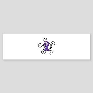 Rheumatoid Arthritis Purple and Blue Ribbon with S