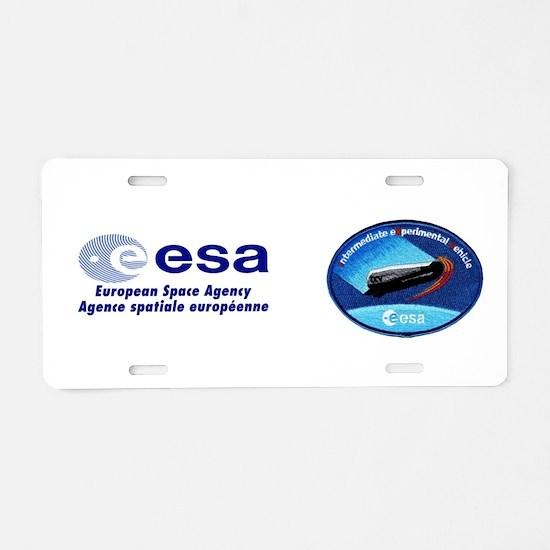 ESA's IXV Logo Aluminum License Plate