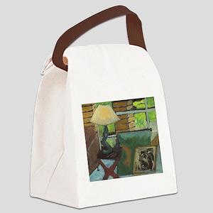 Mid-Century Modern Canvas Lunch Bag