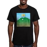 Butt MT Men's Fitted T-Shirt (dark)