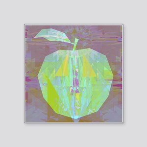 """Green Apple Abstract Art Square Sticker 3"""" x 3"""""""