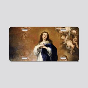 Immaculate Conception by Mu Aluminum License Plate