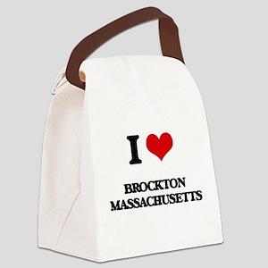 I love Brockton Massachusetts Canvas Lunch Bag