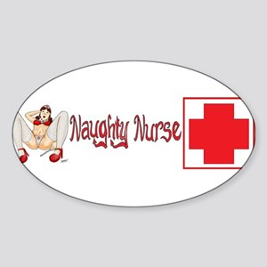 Naughty Nurse ver7 Sticker (Oval)