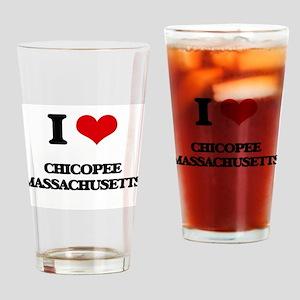 I love Chicopee Massachusetts Drinking Glass