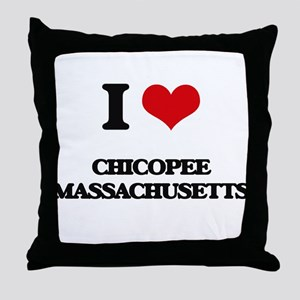 I love Chicopee Massachusetts Throw Pillow