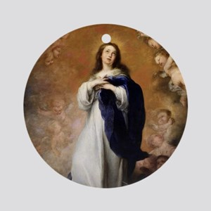 Immaculate Conception by Murillo Ornament (Round)