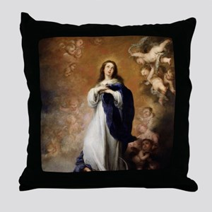 Immaculate Conception by Murillo Throw Pillow
