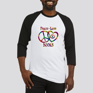 Peace Love Books Baseball Jersey