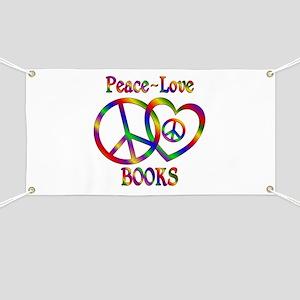 Peace Love Books Banner