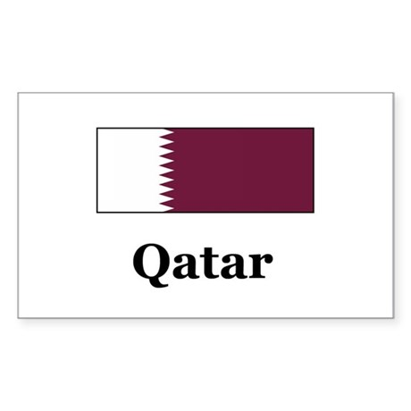 Qatar Rectangle Sticker