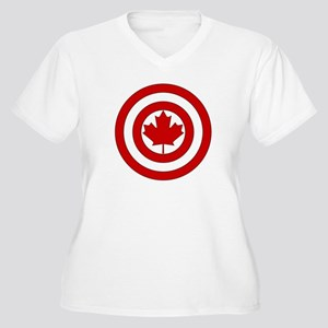 Captain Canada Shield Symbol Plus Size T-Shirt