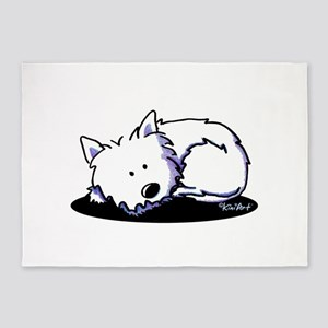 Nap Time Westie 5'x7'Area Rug