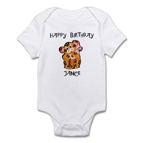Happy Birthday Janice (tiger) Infant Bodysuit