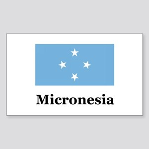 Micronesia Rectangle Sticker