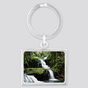 Tropical Waterfall Landscape Keychain