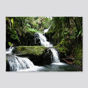 Tropical Waterfall 5'x7'Area Rug