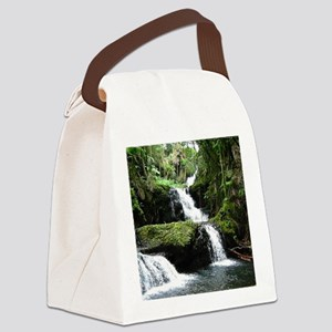 Tropical Waterfall Canvas Lunch Bag