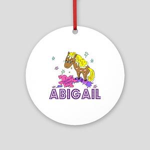 I Dream Of Ponies Abigail Ornament (Round)