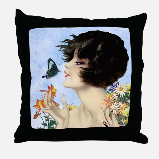 Clive Butterfly Kiss Throw Pillow