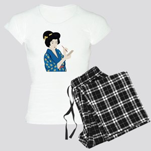 Geisha scribe.png Women's Light Pajamas