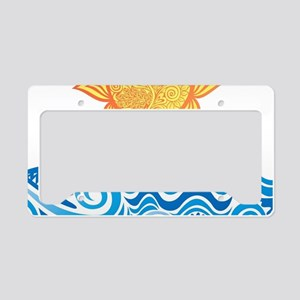 Sun and Sea License Plate Holder