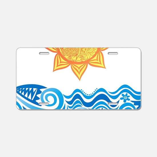 Sun and Sea Aluminum License Plate