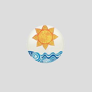 Sun and Sea Mini Button