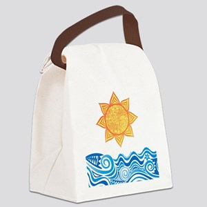 Sun and Sea Canvas Lunch Bag