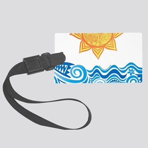 Sun and Sea Luggage Tag