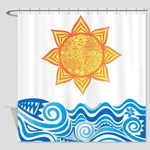 Sun and Sea Shower Curtain
