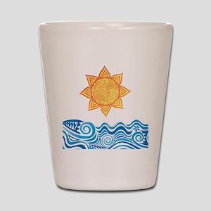 Sun and Sea Shot Glass