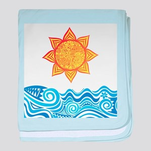 Sun and Sea baby blanket
