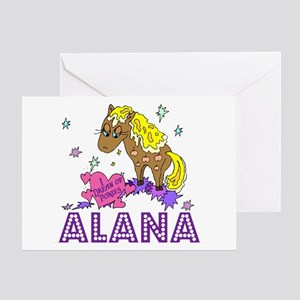 I Dream Of Ponies Alana Greeting Card