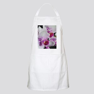 Two Pink White Orchids Apron