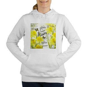Vintage daffodils Women's Hooded Sweatshirt