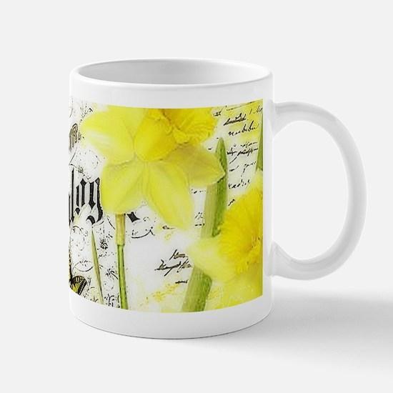 Vintage daffodils Mugs