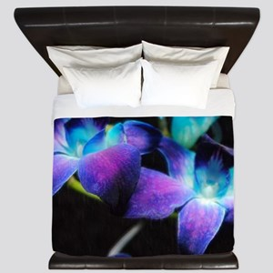 Two Purple Orchids King Duvet