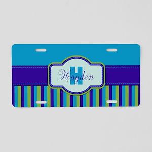 Stripes2015H2 Aluminum License Plate