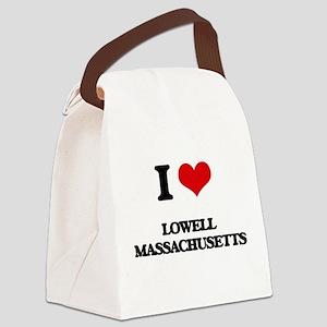 I love Lowell Massachusetts Canvas Lunch Bag