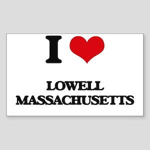 I love Lowell Massachusetts Sticker