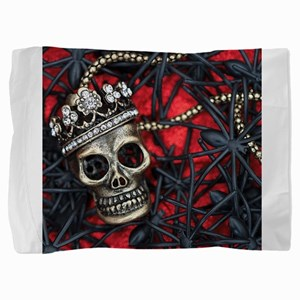 Skull and Spiders Pillow Sham