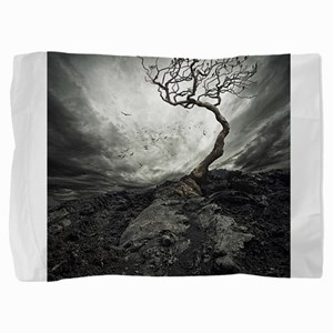 Dark Tree Pillow Sham
