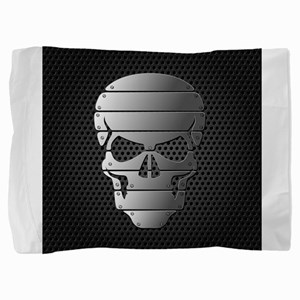 Chrome Skull Pillow Sham