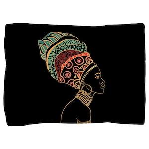 African Woman Pillow Sham